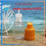 clear price pet bottle scrap 5ml for e liquid bottle 10ml 15ml with white child proof and tamper proof cap