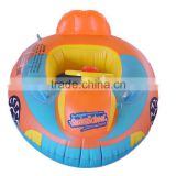 EN71 inflatable baby child swimming boat with steering wheel for water fun