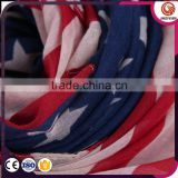 2015 Hot selling Jacquard Acrylic American Flag Infinity Scarf