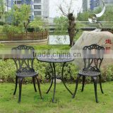 Hot sale! Bistro set cast aluminum outdoor furniture table and chair