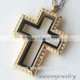 wholesale gold plated cross lockets stainless steel                                                                                                         Supplier's Choice