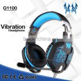 Wholesale EACH G1100 3.5mm&USB 7.1 Surround Sound Wired Game Headphone Gaming Headset with Mic LED Light for PC Mobile Phone