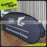 Clear Smart Indoor Outdoor Wrinkle Free Fabric Printed advertising horzontal pop up Custom Printing A Frame Banner