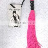 "2015 Sex & Mischief Rubber Whip 10"" Pink Roleplay Dominant Submissive Sexy Costume"