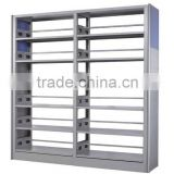 Good quality knock-down metallic book shelf magazine display rack for university library reading room
