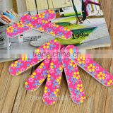 Double Sided New 2-Side Nail Art Acrylic Polish Grind Sand File Block Buffer Nail Tips Tools Disposable Rose Color