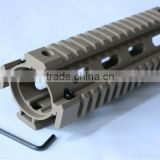 SUNGUN MTS0007-T TAN Quad Rail Hand Guard For CAR Size 7 inch AR15/M4/M16 (AR Quad Rail Hand Guard)
