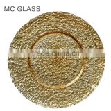Hot Sale Dinner Plate Antique Eco-Friendly Wedding Gold Charger Plates Wholesale