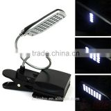 2016 new arrival 28 LED Flexible USB & Battery Clip-on Reading Lamp Computer Desk Headboard Light