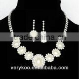 Cheap wholesale rhinestone crystal pearl wedding bridal accessories fashion jewelry sets JS-00181
