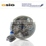 5'S BMC CRYSTAL GLASS with lens 12V/24VAuto Halogen Semi Sealed Beam Auto Halogen Lamp Install H4 or HID H4 Xenon Bulb