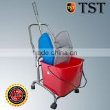 TST Plastic Hospital Cleaning Trolley