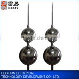 Double Ball shaped lightning rod H=2.5m lightning arrester price