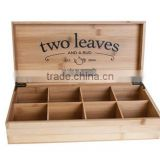 china factory FSC&BSCI&SA8000 display bamboo wooden tea bags packaging storage chest box with drawer