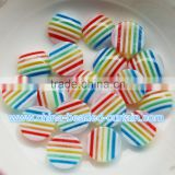 Best Selling 8MM/10MM Acrylic Buttons Shape Striped Flat Beads Without Hole for Craft