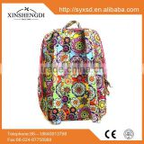 Top quality cotton bright quilted pattern folding second hand backpack