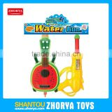 Zhorya children outdoor promotional summer Watermelon guitar Backpack water gun toys for kid