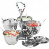 Kinox 18-10 stainless steel Luxe 4-bowl condiment server