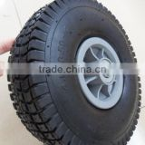 12 inch pu foam electronic wheelchair wheel with aluminium rim alloy wheel