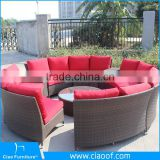 Outdoor Rattan Furniture European Style Sectional Hotel Sofas