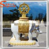 Great Quality of Outdoor Decoration Equipment Life Size Fiberglass Thailand Elephant Statue