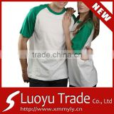 New Fashion Summer Blank Couple Tee For Custom