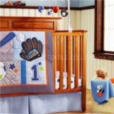 Sports Collection Baby Boy Crib Cot Bedding Set With Bumper, Fitted Sheet, Bedskirt Etc