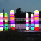 Attractive led inflatable colorful column/decorative lighting inflatable rainbow tube cone