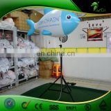 New Design Fish Shaped Inflatable Standing Tripod Balloon , Advertising LED Lighting Inflatable Fish Replica
