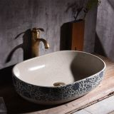 Bathroom big size deep ceramic chinese style wash basin sink