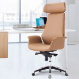 Modern office furniture executive armrest full leather office chair with wheel