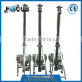 China stainless steel sugar screw conveyor/screw conveyor price/Inclined screw hopper loader