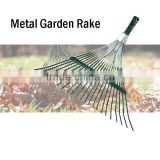(8-1403) Mental 22 Tin Garden Leaf Rake Head Suitable For Wooden Handle