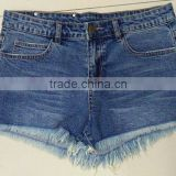 Washed Jean Button Down High Waisted Cut Off Denim Shorts