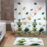 Designer fabric unique shower curtains custom printed shower curtains