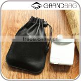 customized sheep leather portable phone charger organizer bag for phone power source for macbook's charger