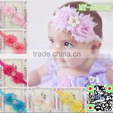 Fancy European styles bulk wedding accessories Shabby baby hair accessories with pearls atached MY-AB0028