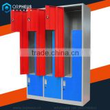 Gym Used L Lockers High Duty Cold rolled Steel Z Door Gym Locker Stadium Special Use L Shape Lockers