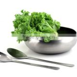 STAINLESS STEEL SALAD BOWL WITH SERVER