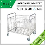durable use hotel dry linen laundry trolley
