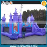 outdoor purple princess inflatable jumping bouncy bed for kids