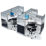 high wall office cubicle design 4 person office workstation partition with hanging cabinet(SZ-WST652)