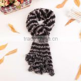 100% Nylon Fashion Women's Winter Changeable Microfiber Magic Scarf Long Warm Stretchy Wrap Shawl Ladies Scarves Black+Gray
