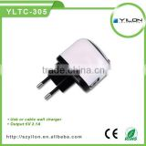 Hot sale practical universal usb travel charger for mobile phone with EU US AU UK plug available