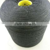 65%polyester 35%cotton black yarn, recycle polyester cotton yarn, 6S 5S yarn for sock, for gloves