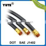 yute brand wholesale sae j1402 black air brake hose with brass fittings