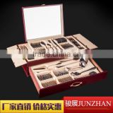 Sand blasting handle 72pcs flatware sets with stainless steel material and perfect polishing