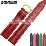 2015 New Arrival 12|14|16|18|20|22mm applying customer's logo multicolor genuine leather watch straps wholesale 3pcs