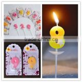Lucky numbers romantic candle / blister card packing/birthday candle/birthday cake candle