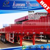AOTONG Cheap 600mm side wall open type drop side deck semi trailer for sale